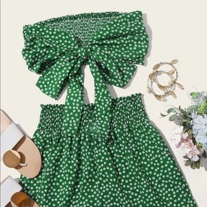 Green floral 2 piece set